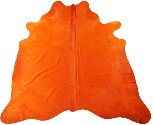 EXKLUSIVES KUHFELL STIERFELL ORANGE 230 x 220 cm