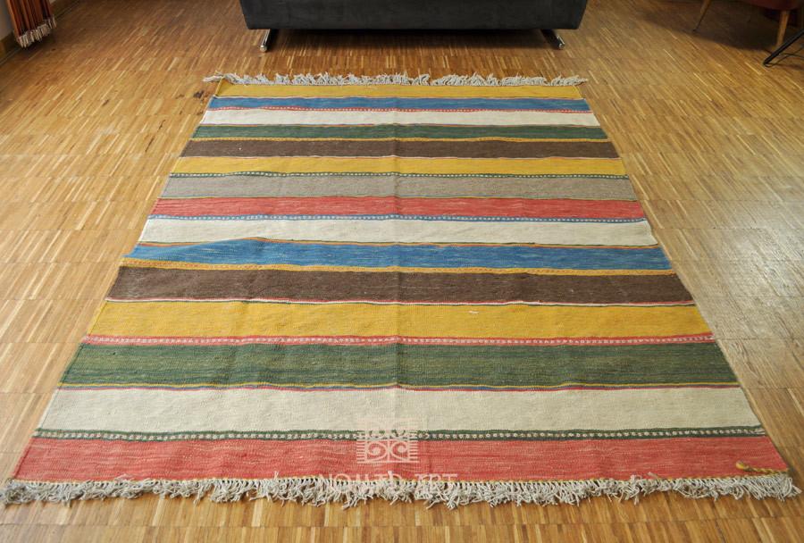 Kelim teppich  Kelim Ghashghai 150 x 196 cm Südpersischer Nomaden Teppich