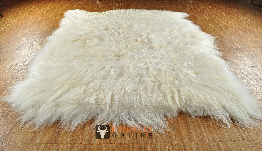 island lammfell teppich naturwei 120 x 200 cm xl. Black Bedroom Furniture Sets. Home Design Ideas