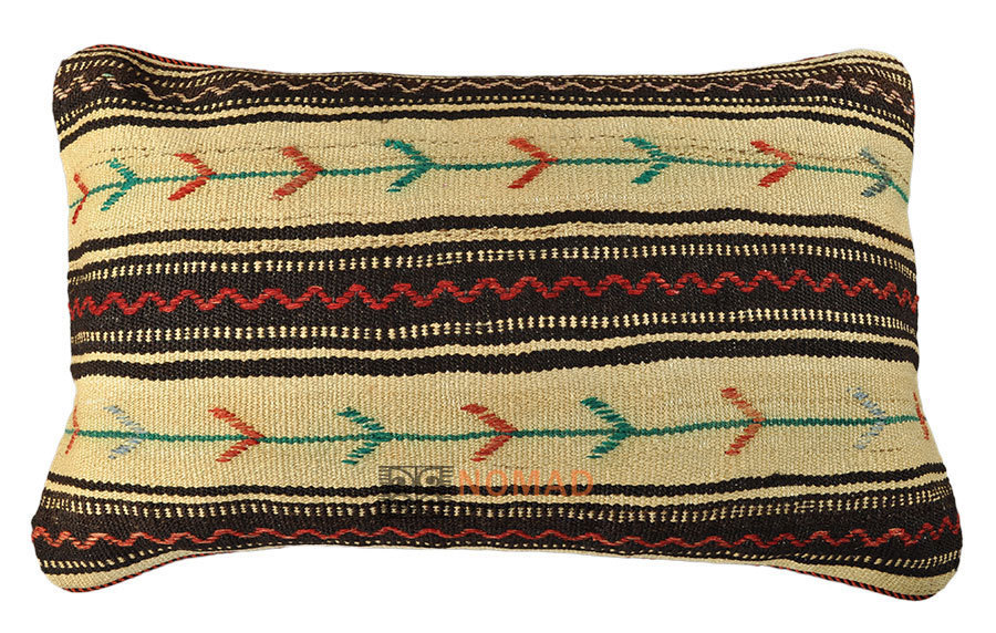 kilim cushion 80 x 50 cm kuhfelle online nomad. Black Bedroom Furniture Sets. Home Design Ideas