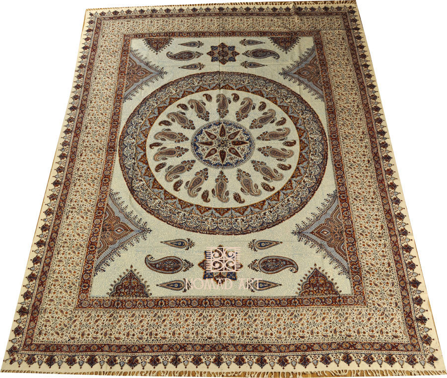 Bett berwurf tagesdecke paisley 280 x 220 cm kuhfelle for Tagesdecke paisley