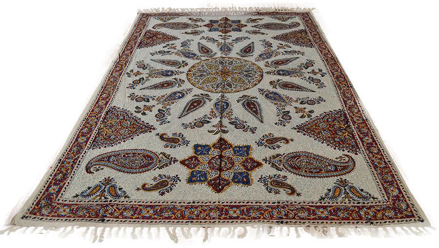 Orient tagesdecke tischdecke paisley handbedrukt 145 x 95 for Tagesdecke paisley