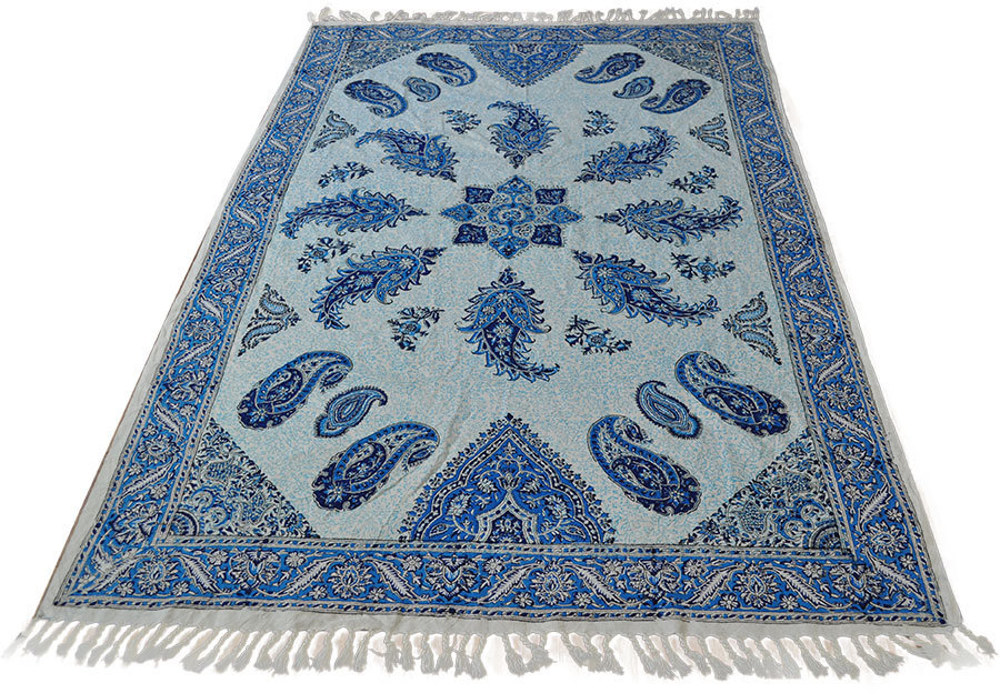 Orient tagesdecke tischdecke paisley handbedrukt 100 x 140 for Tagesdecke paisley