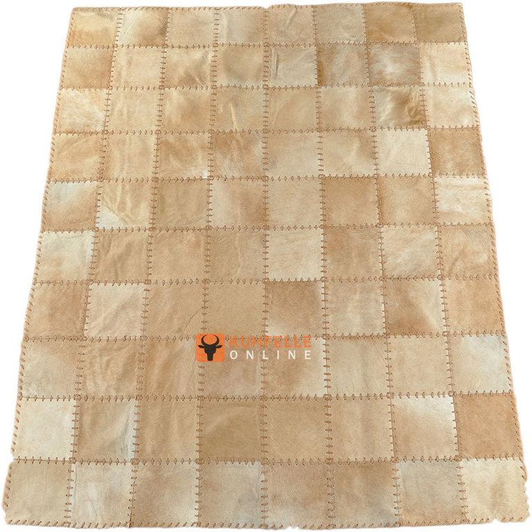 kuhfell teppich hellbraun 200 x 160 cm handvern ht. Black Bedroom Furniture Sets. Home Design Ideas