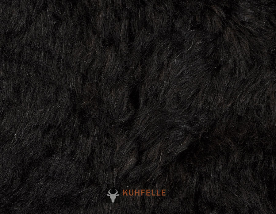 Iceland Lambskin rug natural black 170 x 170 cm by