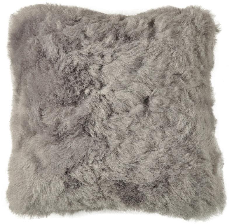 Lambskin Cushion Grey Ca40 X 40 Cm
