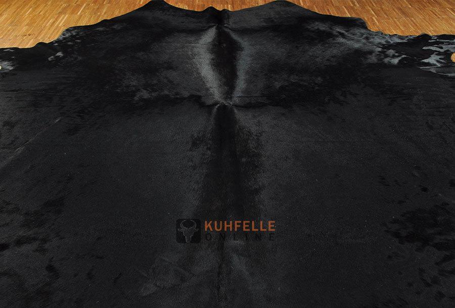 Kuhfell teppich schwarz 220 x 190 cm kuhfelle online nomad - Kuhfell teppich schwarz ...