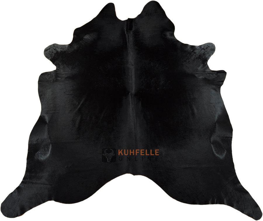 Kuhfell teppich schwarz 215 x 200 cm kuhfelle online nomad - Kuhfell teppich schwarz ...