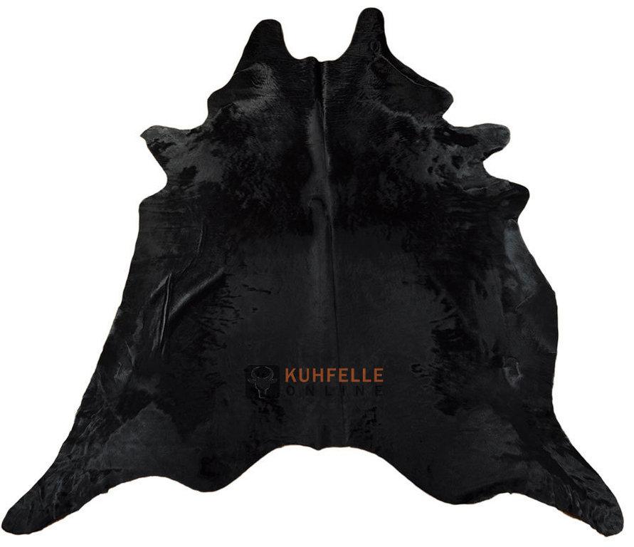 Kuhfell teppich schwarz 230 x 200 cm kuhfelle online nomad - Kuhfell teppich schwarz ...