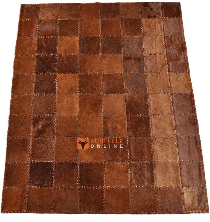 kuhfell teppich braun 200 x 160 cm handvern ht. Black Bedroom Furniture Sets. Home Design Ideas