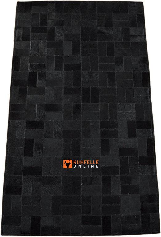 kuhfell teppich patchwork schwarz. Black Bedroom Furniture Sets. Home Design Ideas