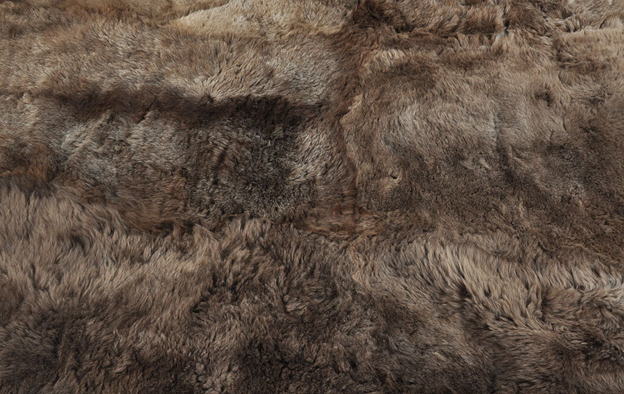 Iceland Lambskin rug brown 180 x 170 cm by kuhfelle online