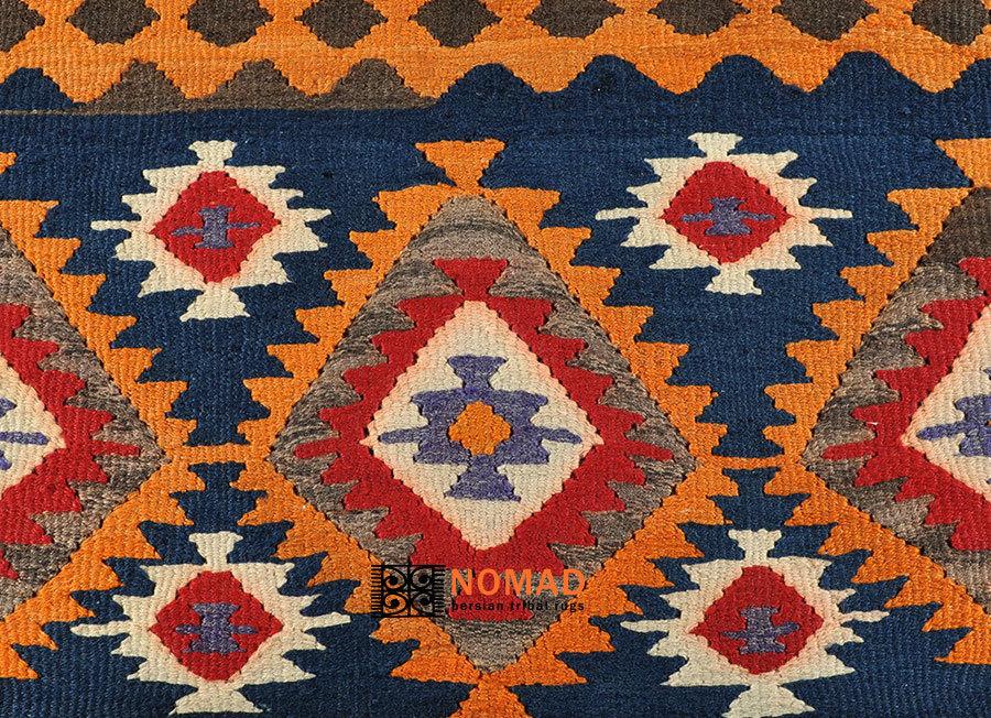 Old Kilim Azerbaijan Persian Tribal Rug 150 X 106 Cm