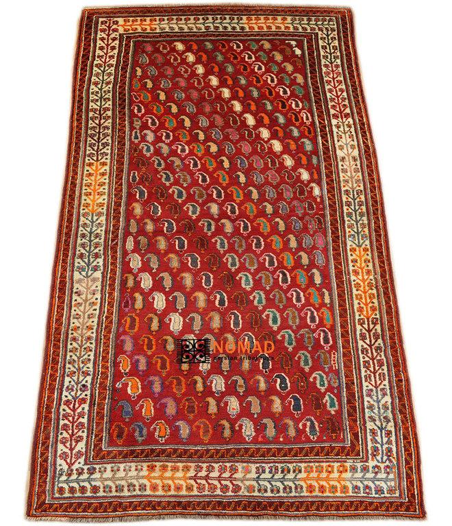 old Gabbeh Qashqai south persian tribal rug 253 x 147