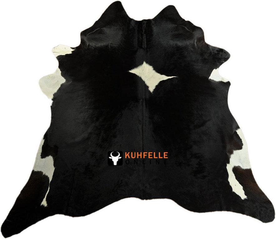 kuhfell teppich schwarz weiss 230 x 210 cm bei kuhfelle online bestellen. Black Bedroom Furniture Sets. Home Design Ideas