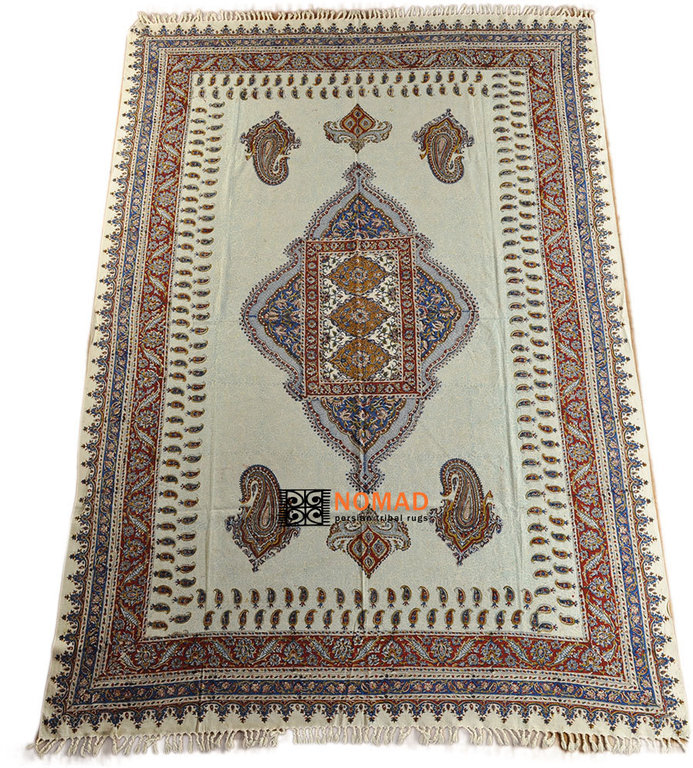 Orient tagesdecke tischdecke paisley handbedrukt 230 x 135 for Tagesdecke paisley