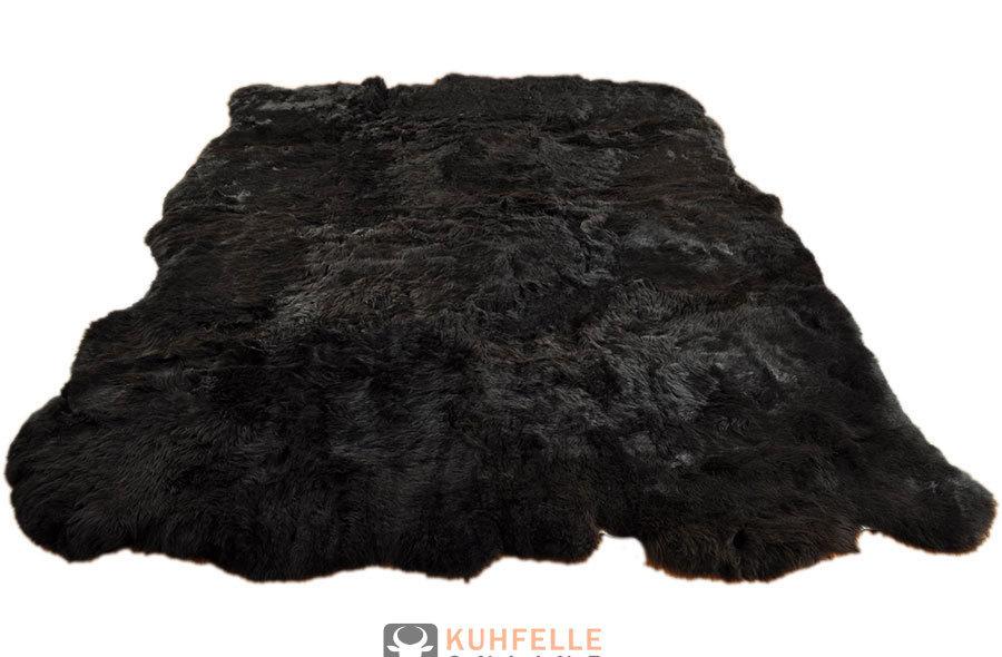 island lammfell teppich schwarz 220 x 160 cm aus 8 lammfellen. Black Bedroom Furniture Sets. Home Design Ideas