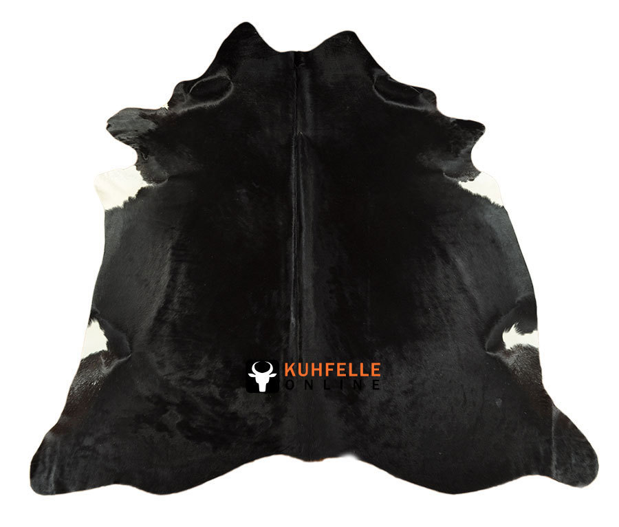 Kuhfell teppich schwarz 200 x 220 cm bei kuhfelle online bestellen - Kuhfell teppich schwarz ...