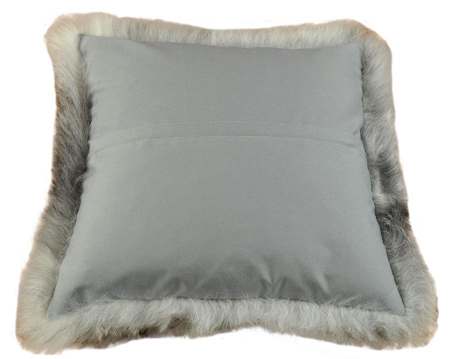 lammfell kissen grau 50 x 50 cm online kaufen. Black Bedroom Furniture Sets. Home Design Ideas