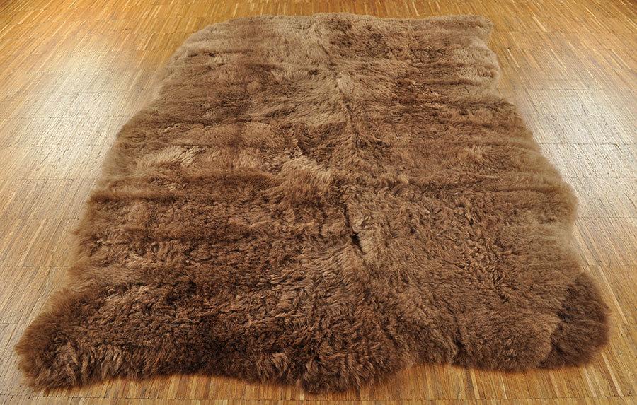 Öko Lammfell Teppich braun 120 x 160 cm kurzwollig