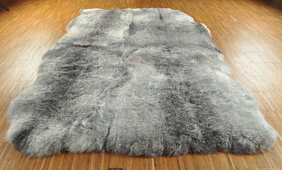 ko lammfell teppich grau natur 180 x 120 cm kurzwollig. Black Bedroom Furniture Sets. Home Design Ideas