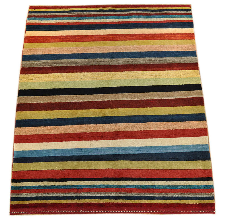 Gabbeh Qashqai 195 X 163 Cm South Persian Tribal Rug 144 X
