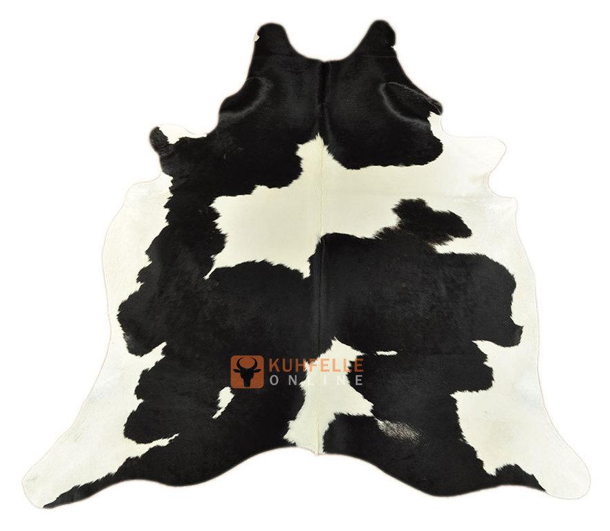 kuhfelle schwarz weiss 220 x 190 cm bei kuhfelle online bestellen. Black Bedroom Furniture Sets. Home Design Ideas
