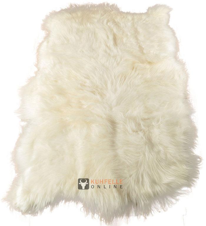 Öko Lammfell Teppich creme weiß 130 x 200 cm XL langhaarig