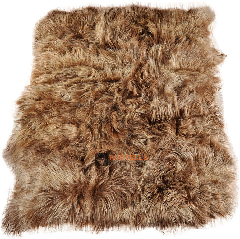 lammfell teppich goldbraun 220 x 175 cm langwollig bei kuhfell bestellen. Black Bedroom Furniture Sets. Home Design Ideas