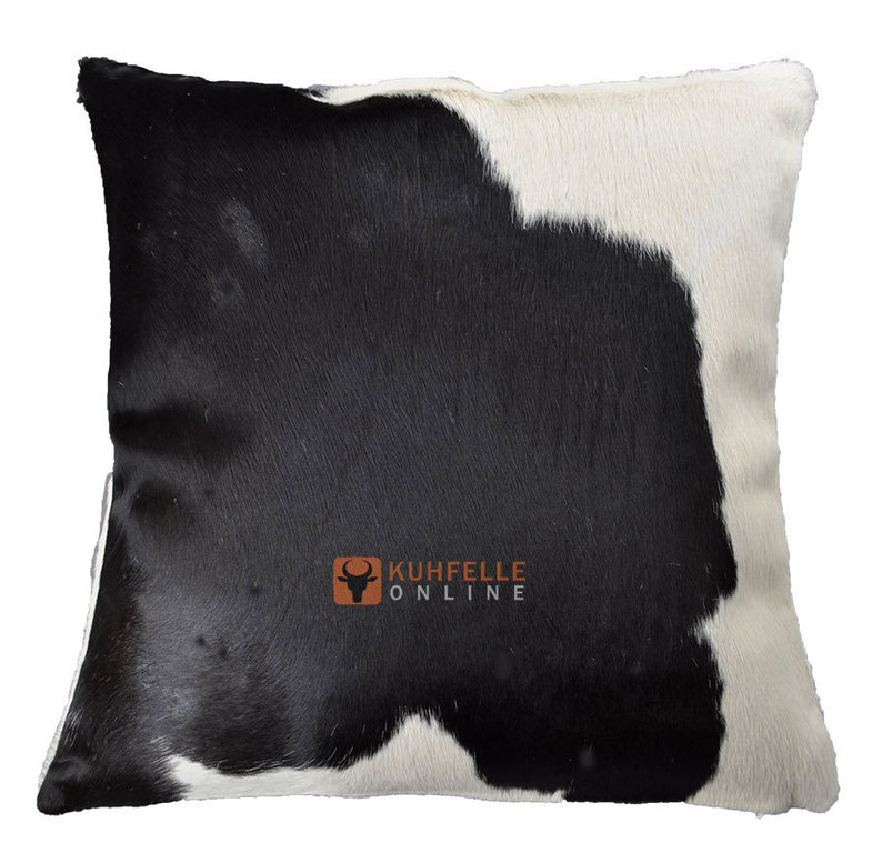 kuhfell kissen schwarz weiss 50 x 50 cm kuhfelle online. Black Bedroom Furniture Sets. Home Design Ideas