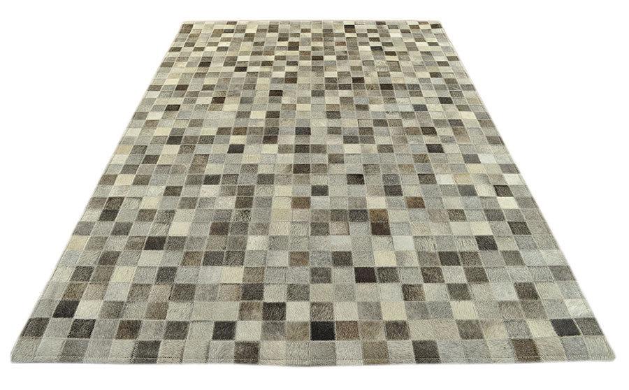 kuhfell teppich mix grau 180 x 120 cm patchwork. Black Bedroom Furniture Sets. Home Design Ideas