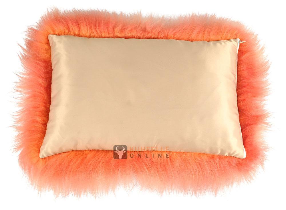 lammfell kissen orange langwollig kuhfelle online. Black Bedroom Furniture Sets. Home Design Ideas