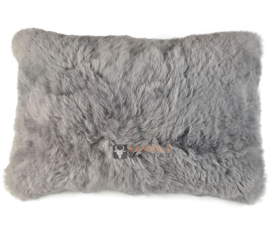 lammfell kissen silber grau 35 x 55 cm kuhfelle online. Black Bedroom Furniture Sets. Home Design Ideas