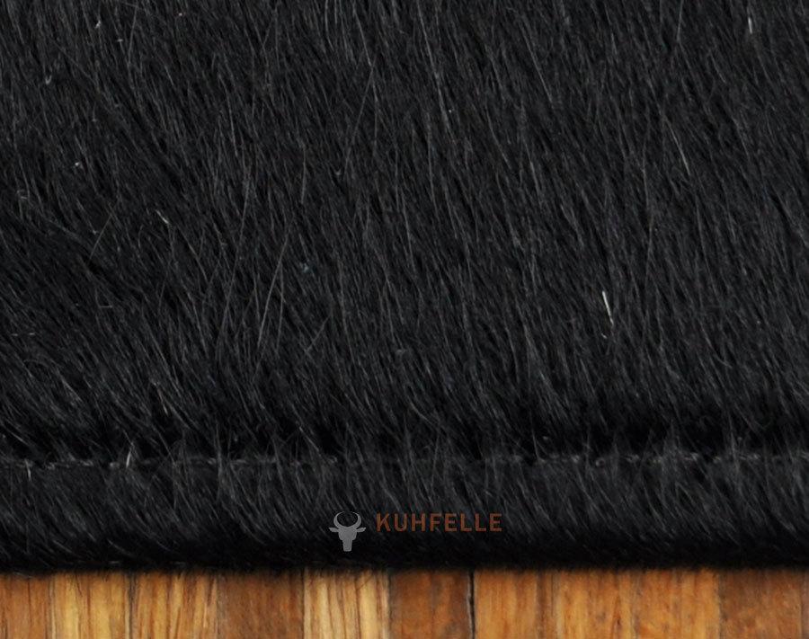 Exklusiver kuhfell teppich schwarz 180 x 120 cm bei kuhfelle online - Kuhfell teppich schwarz ...