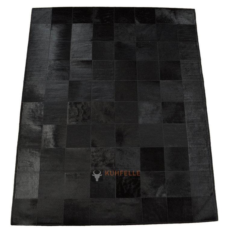 exklusiver kuhfell teppich schwarz 160 x 200 cm bei. Black Bedroom Furniture Sets. Home Design Ideas