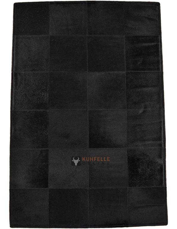 Exklusiver kuhfell teppich schwarz 80 x 120 cm bei - Kuhfell teppich schwarz ...