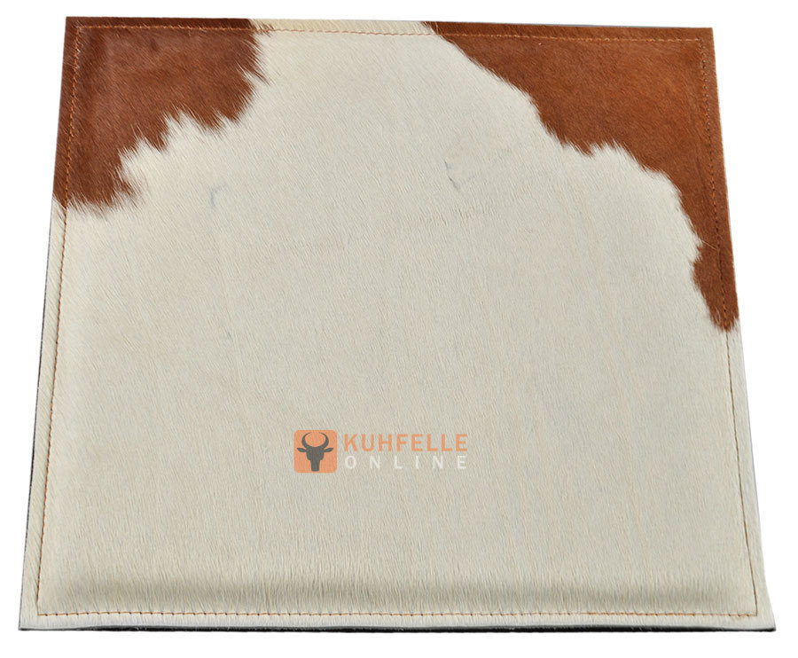 Cowhide Chair Pad Brown White 37 X 37 Cm Kuhfelle Online Nomad