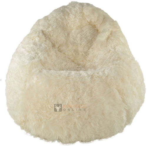 fluffy sheepskin beanbag lambskin pouf kuhfelle online. Black Bedroom Furniture Sets. Home Design Ideas