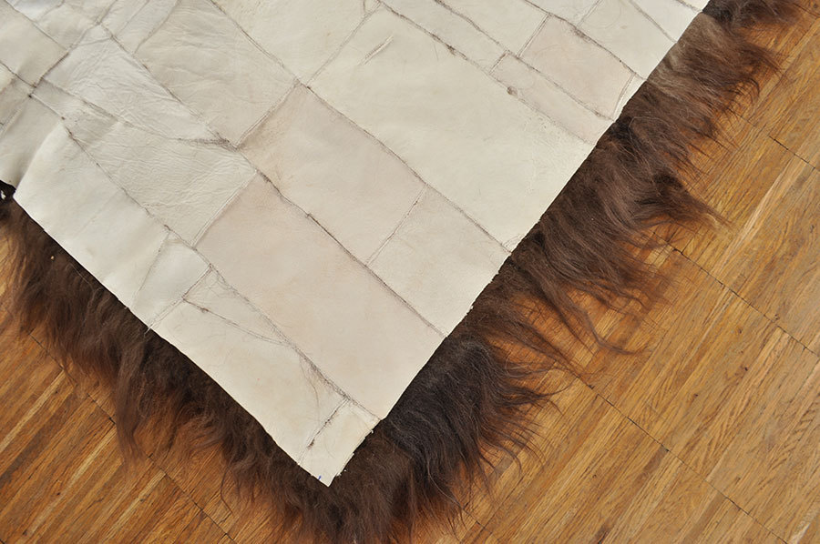 lammfell teppich patchwork braun 100 x 160 cm online. Black Bedroom Furniture Sets. Home Design Ideas