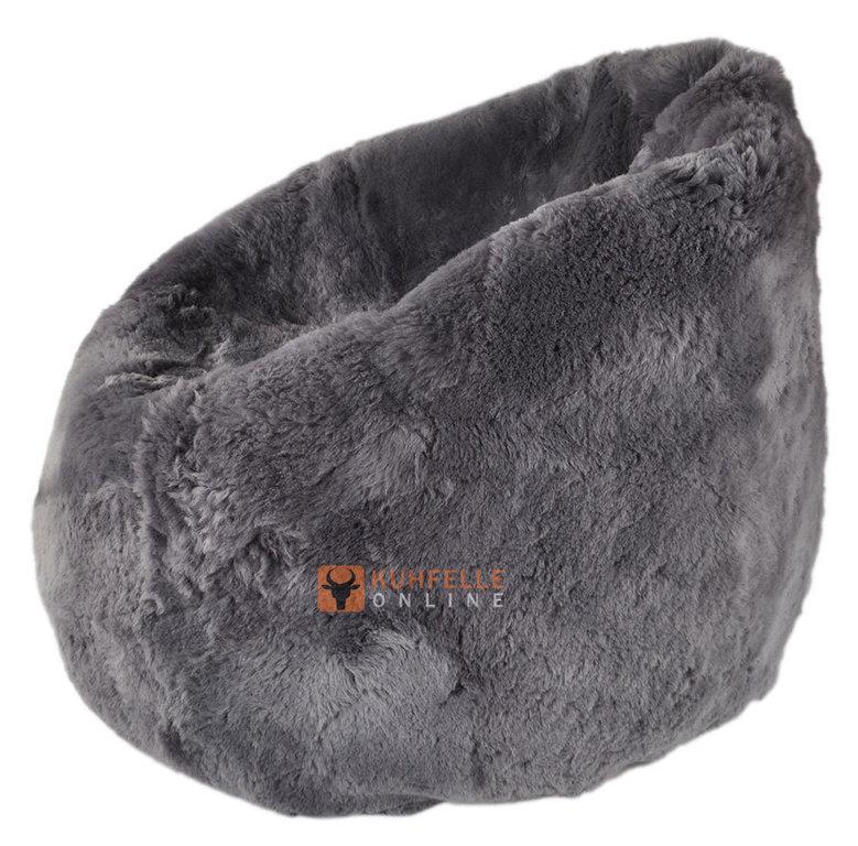 uk lammfell sitzsack grau gef rbt kurzhaarig kuhfelle online. Black Bedroom Furniture Sets. Home Design Ideas