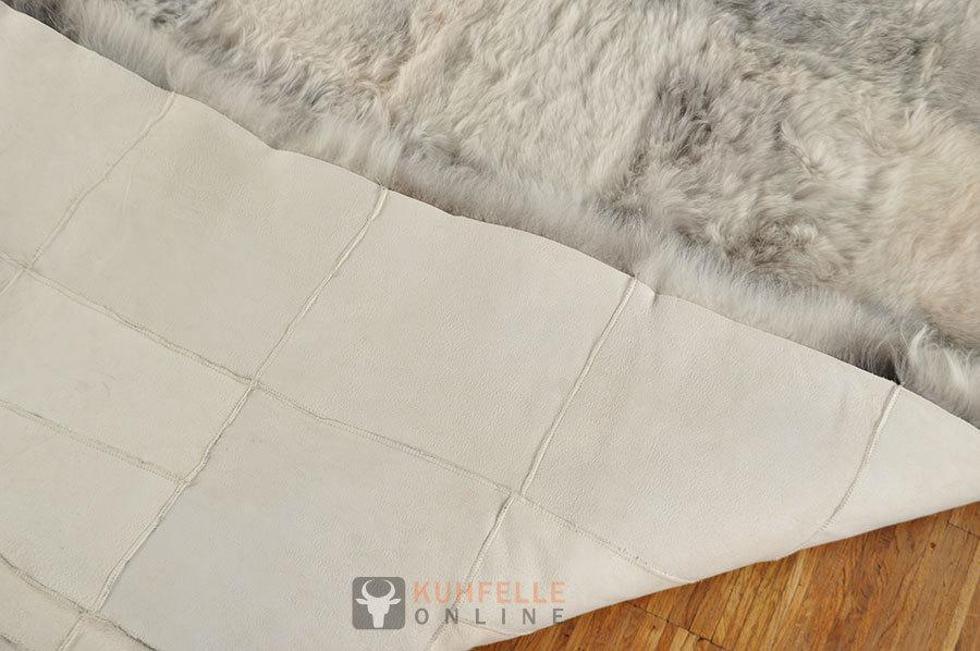 Öko Lammfell Teppich grau beige 200 x 160 cm  online