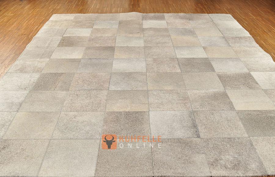 kuhfell teppich grau beige natur 200 x 160 cm bei kuhfelle online. Black Bedroom Furniture Sets. Home Design Ideas