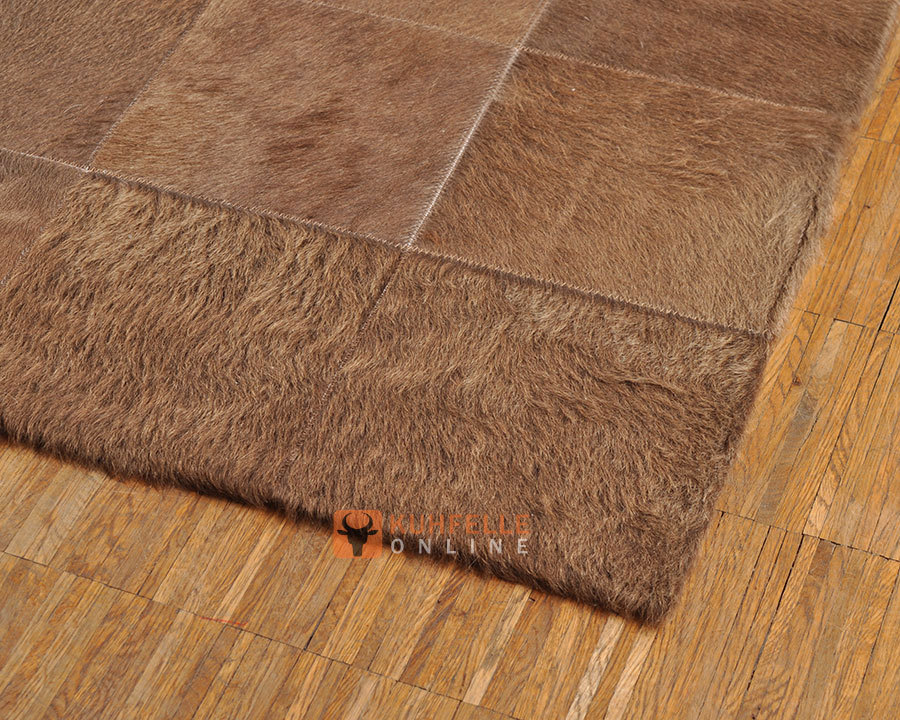 kuhfell teppich imitat braun carprola for. Black Bedroom Furniture Sets. Home Design Ideas