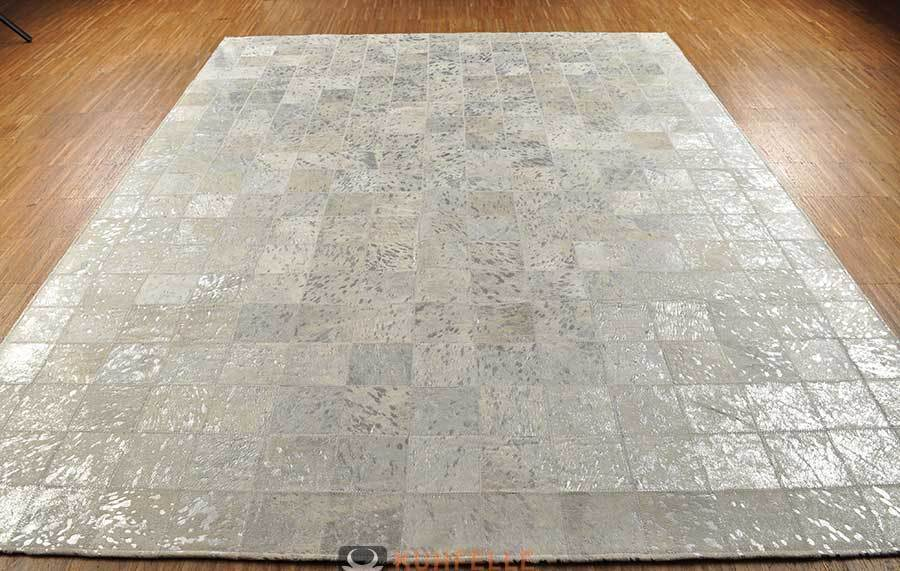 Kuhfell teppich grau silber devore 200 x 150 cm bei kuhfelle online - Kuhfell teppich grau ...