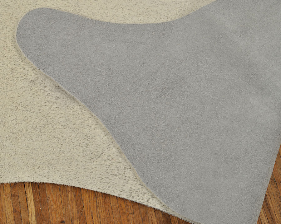 Kuhfell grau beige natur 190 x 155 cm kuhfelle online for Kuhfell grau