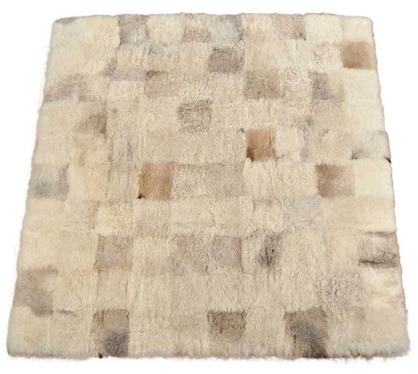 Oko Lammfell Teppich Britisch Grau Beige 200 X 200 Cm Online Bestellen