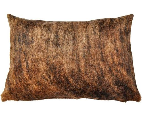 cowhide cushion cover brown exotic 40 x 60 cm