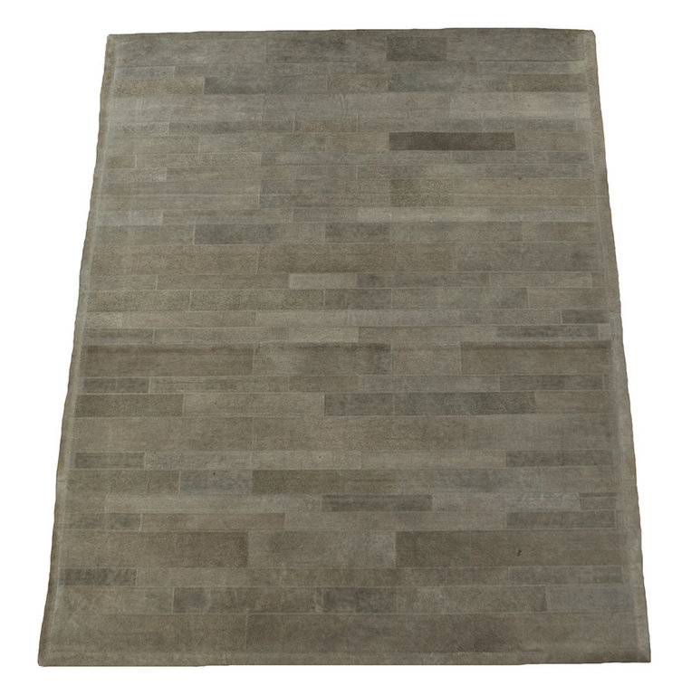 Leder Teppich Grau Patchwork 160 X 200 Cm Bei Kuhfelle Online