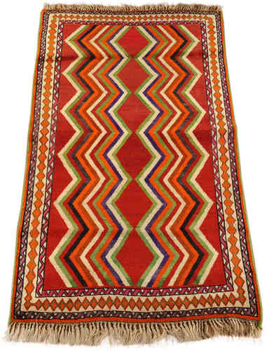 old Gabbeh Qashqai south persian tribal rug127 x 213 cm