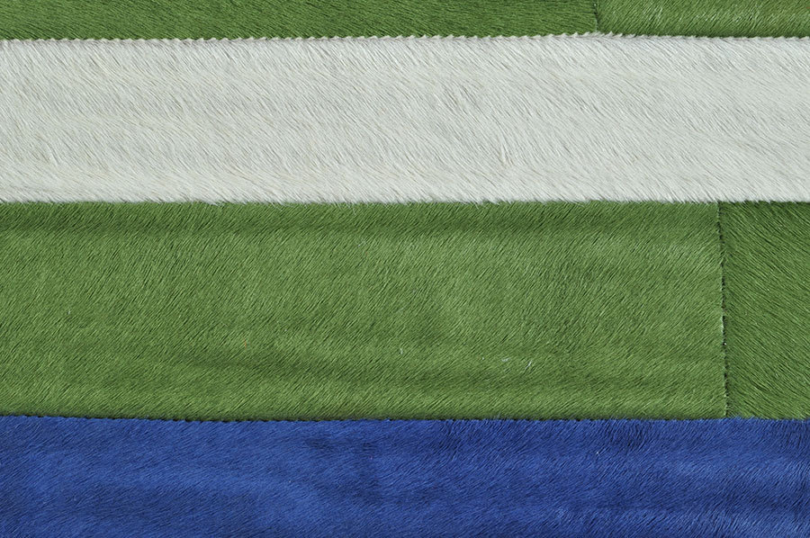 Exklusiver kuhfell teppich bunt gestreift cm bei